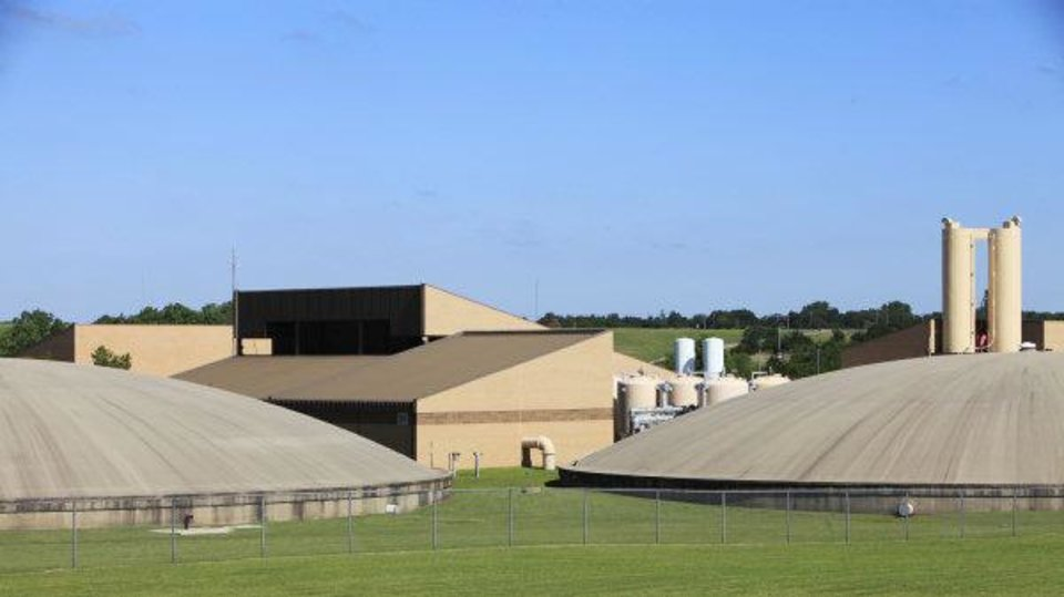 Photo - Oklahomans are expected to spend billions of dollars over the next 50 years improving water treatment and distribution systems throughout the state. Pictured is the Edmond water treatment plant, which was named the state's 2010 outstanding large treatment plant of the year.  David McDaniel - THE OKLAHOMAN