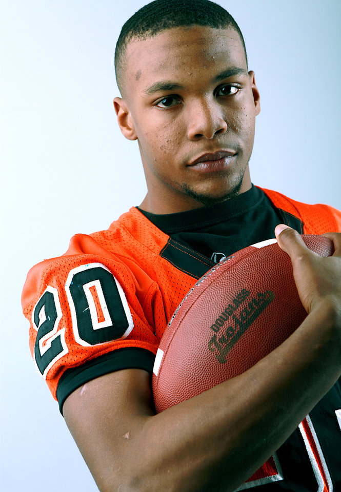 All-State Team player Aliston Cobb, of Douglass, poses at the OPUBCO studios in Oklahoma City on Monday, Dec. 13, 2010. Photo by John Clanton, The Oklahoman