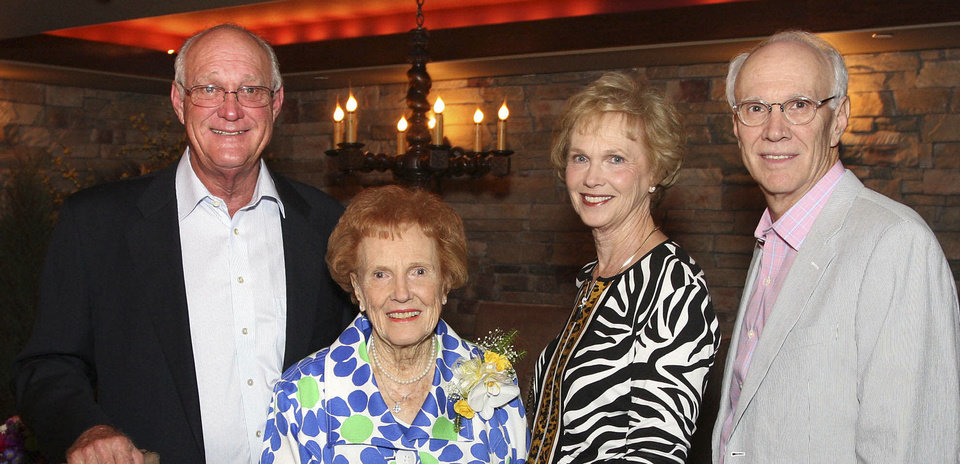 Bud Beeler, Lucy Beeler, Kay Blake, Jeff Beeler.  PHOTO BY DAVID FAYTINGER, FOR THE OKLAHOMAN