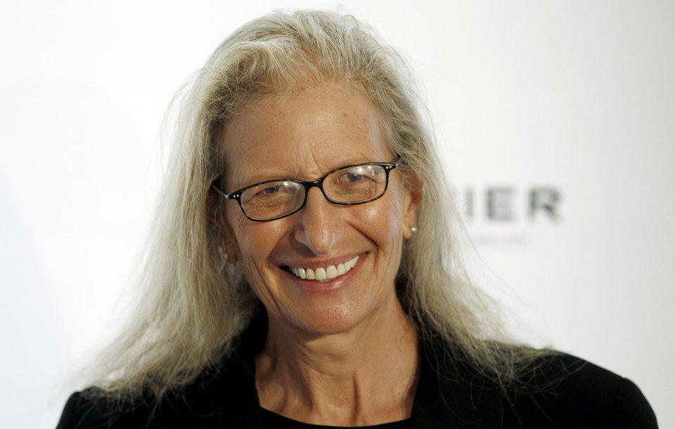 Photo -   Photographer Annie Leibovitz arrives at the 7th Annual MOCA Award to Distinguished Women in the Arts luncheon in Beverly Hills, Calif. Tuesday, May 1, 2012. The event honored Leibovitz. (AP Photo/Matt Sayles)