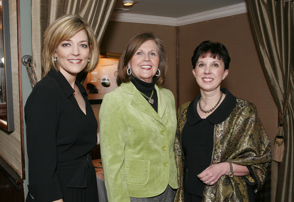 Lesley St. John, Elaine Levy and Mary Blankenship-Pointer. - PHOTO BY DAVID FAYTINGER, FOR THE OKLAHOMAN
