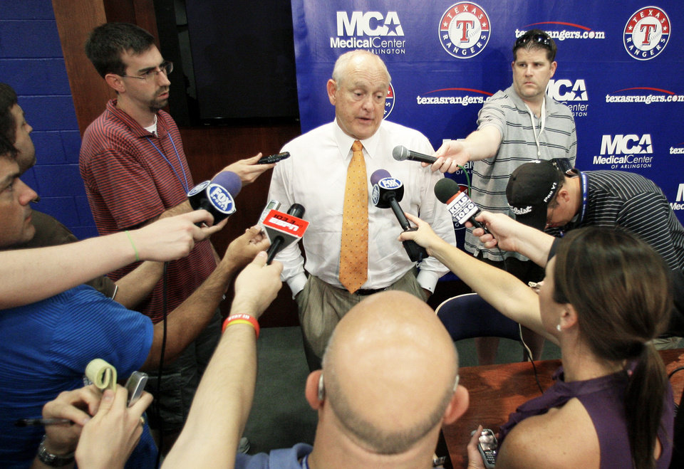 Rangers president Nolan Ryan is part of a group that is trying to buy the club. Ryan also owns part of the Triple-A Round Rock Express. AP photo