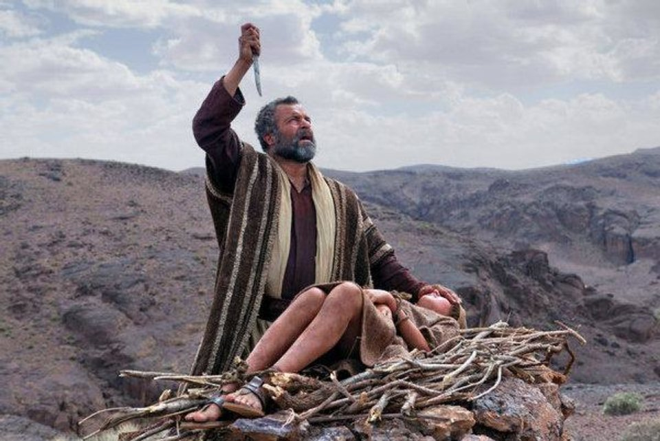 "This scene from ""The Bible"" series continuing on the History Channel, is a portrayal of Abraham as he  prepares to sacrifice his son Isaac at God's command. Photo provided <strong></strong>"