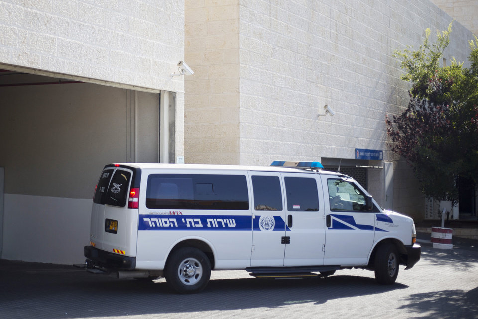 Photo - An Israeli prison service vehicle leaves the court house in Petah Tikva, Israel, Sunday, July 6, 2014. Israeli authorities on Sunday announced the arrests of several Jewish suspects in the death of Muhammed Abu Khdeir, 16, a Palestinian teenager who was abducted and killed last week, marking a major breakthrough in a case that has sparked violent protests in Arab areas of Jerusalem and northern Israel. In a joint statement, Israeli police and the Shin Bet security agency said the suspects were arrested early Sunday. They remained in custody and were being interrogated by the Shin Bet. (AP Photo/Ariel Schalit)