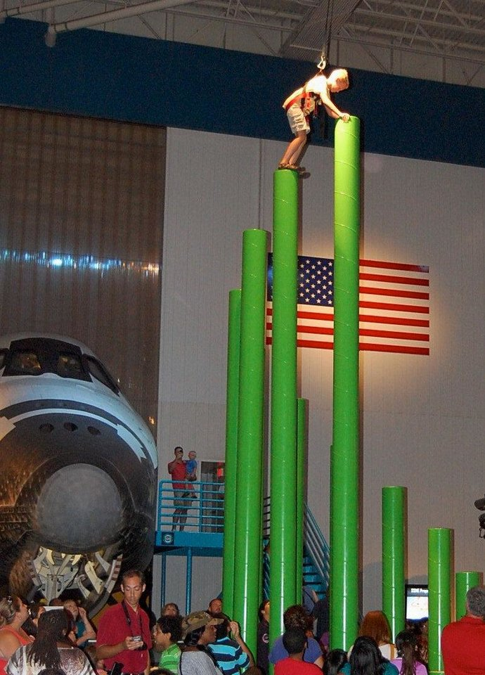 Photo - The plaza at Space Center Houston hosts rotating exhibits and shows, including hands-on adventures. PHOTO BY ANNETTE PRICE, FOR THE OKLAHOMAN.