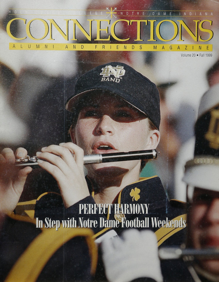 PHOTO COPY Shawna Flenniken is pictured in the band at Notre Dame. <strong>DOUG HOKE - THE OKLAHOMAN</strong>
