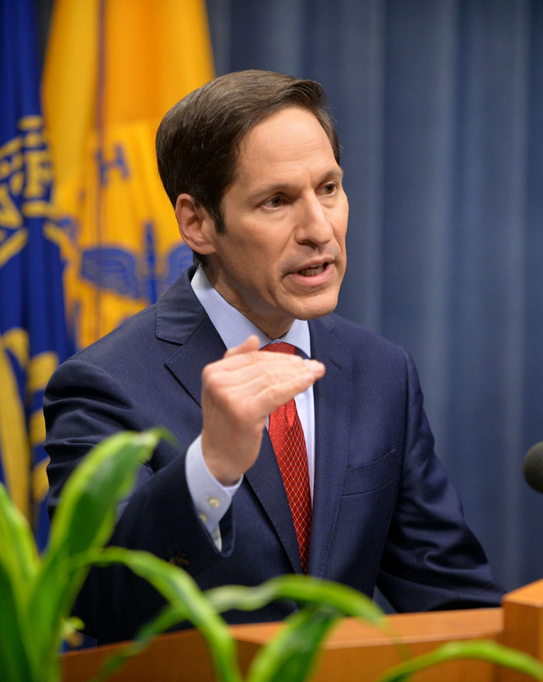 Photo - Dr. Tom Frieden, director of the U.S. Centers for Disease and Control, holds a media briefing on Tuesday, Sept. 2, 2014, in Atlanta. The briefing included a public health assessment of the Ebola outbreak in West Africa, and an update on efforts to control the spread of the outbreak. (AP Photo/Atlanta Journal-Constitution, Kent D. Johnson)  MARIETTA DAILY OUT; GWINNETT DAILY POST OUT; LOCAL TELEVISION OUT; WXIA-TV OUT; WGCL-TV OUT