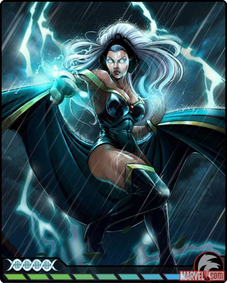 Photo - Card art of Storm is shown from the