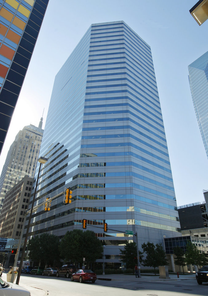 Photo -  Oklahoma Tower, 210 Park Ave. Class A office space downtown is tighter than ever and the average rent rate is at a record high, according to Price Edwards & Co.  PHOTO BY PAUL B. SOUTHERLAND, THE OKLAHOMAN    PAUL B. SOUTHERLAND -  PAUL B. SOUTHERLAND