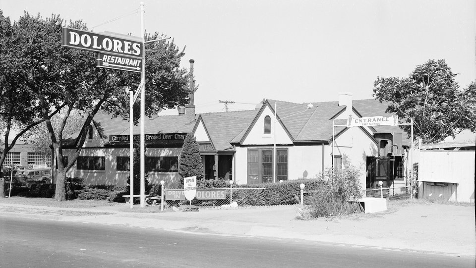 Photo -  The Dolores Restaurant was home to the iconic Comeback Sauce for more than 40 years. [Photo courtesy Oklahoma History Center]