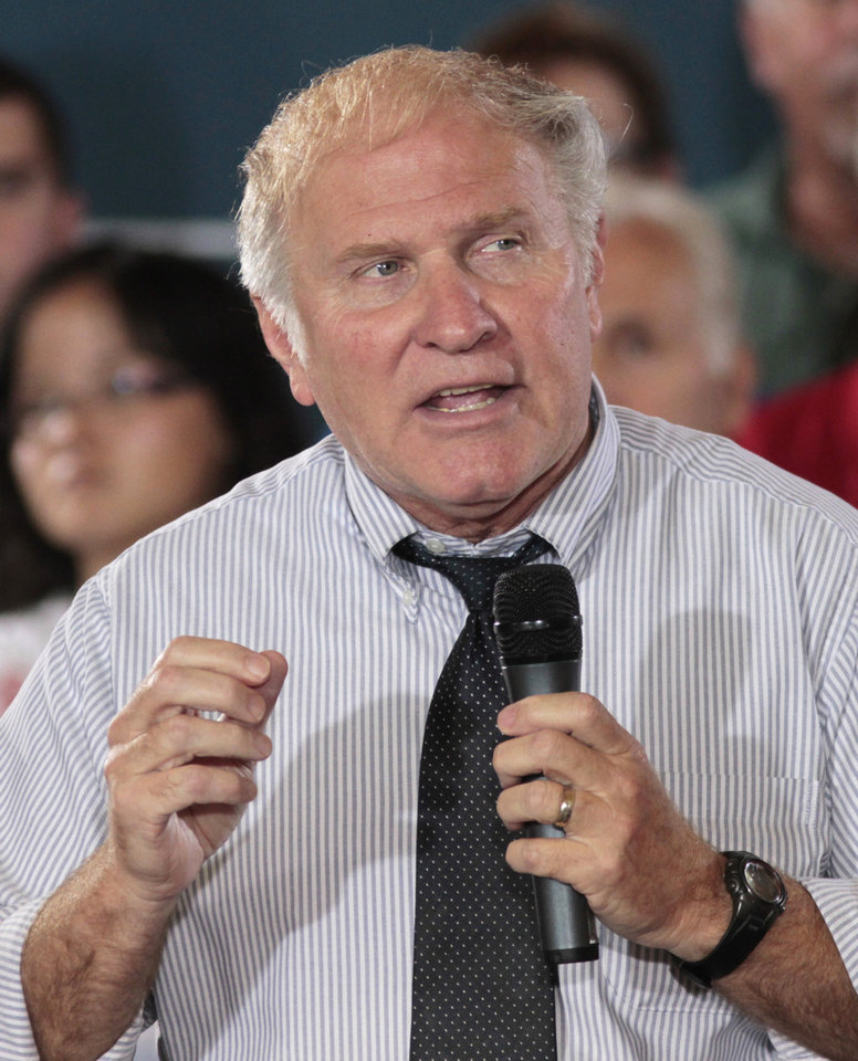 Photo - FILE - In this Sept. 1, 2012, file photo, Rep. Steve Chabot speaks at a campaign rally in Cincinnati.  The immigration debate is threatening to split the Republican Party, pitting those who focus mainly on presidential elections against those who care mostly about congressional races. Granting illegal residents a path to citizenship, which critics call