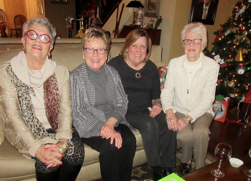 Photo -  Liz McGuiness, Carol Orr, Judy Wood and Pat Green. [PHOTO BY HELEN FORD WALLACE]