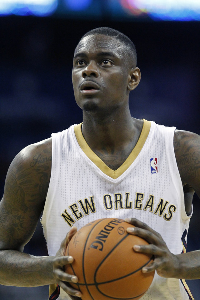 Photo - New Orleans Pelicans shooting guard Anthony Morrow (3) against the Milwaukee Bucks in the second half of an NBA basketball game in New Orleans, Friday, March 7, 2014.The Pelicans defeated the Bucks 112-104.  (AP Photo/Bill Haber)