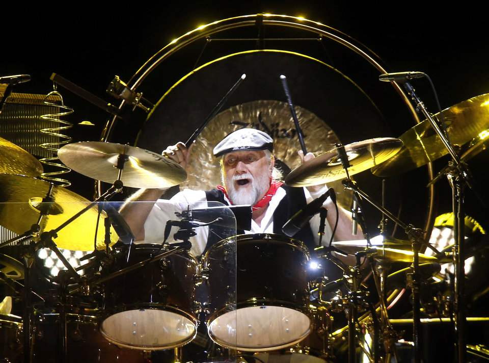 Drummer Mick Fleetwood performs during a Fleetwood Mac concert at Madison Square Garden, Monday, April 8, 2013, in New York. (Photo by Jason DeCrow/Invision/AP) ORG XMIT: NYJD104