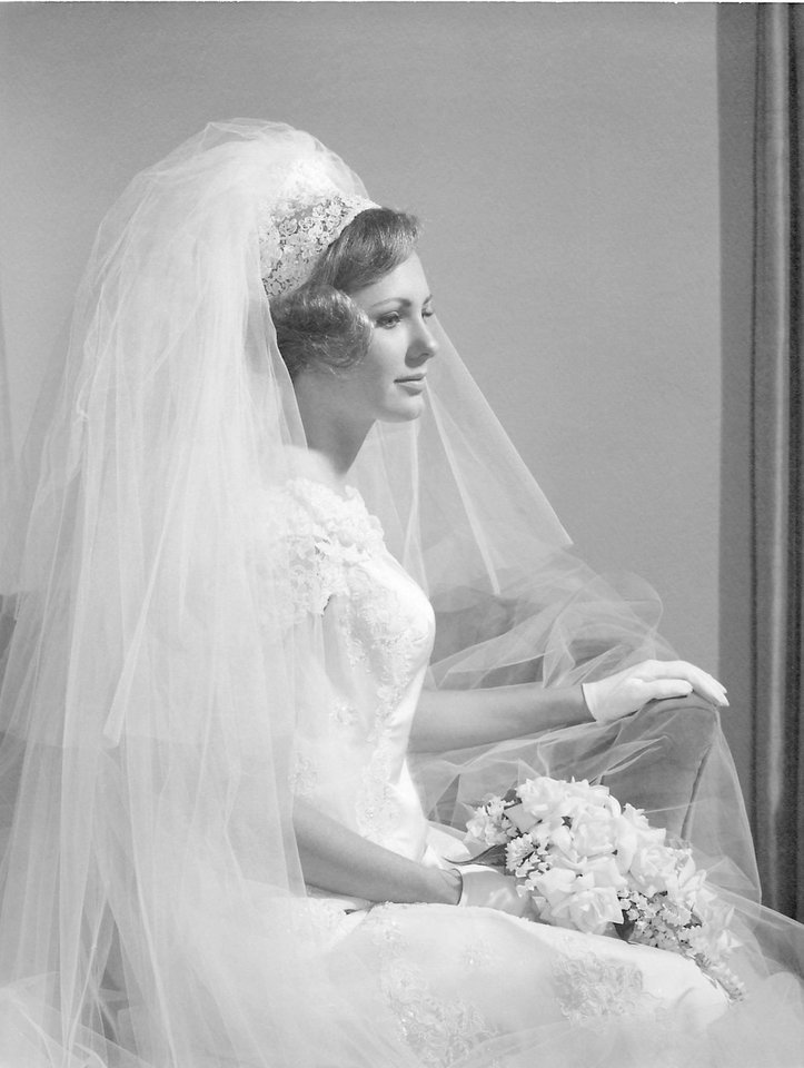 Photo - For Darlene Parman, who was married in 1969, a trip to New York City ended with her wedding gown from Saks Fifth Avenue. Her dress was a