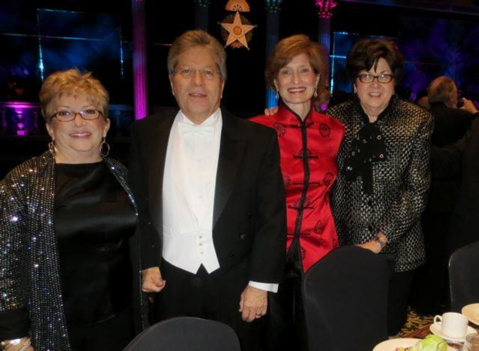 Lynn and Dr. Ron White, Kirk Hammons and Kay Oliver were at the Renaissance Tulsa Hotel & Convention Center for the 85th Oklahoma Hall of Fame. Dr. White was one of the inductees. Others were Stan Clark, Bart Conner, Tom Ward, Suzanne Warren, Lee R. West and the late Edith Kinney Gaylord. (Photo by Helen Ford Wallace).
