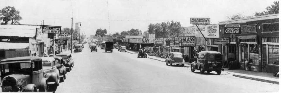 Photo -  Hub Cap Alley was once a bustling state highway. [The Oklahoman Archives]