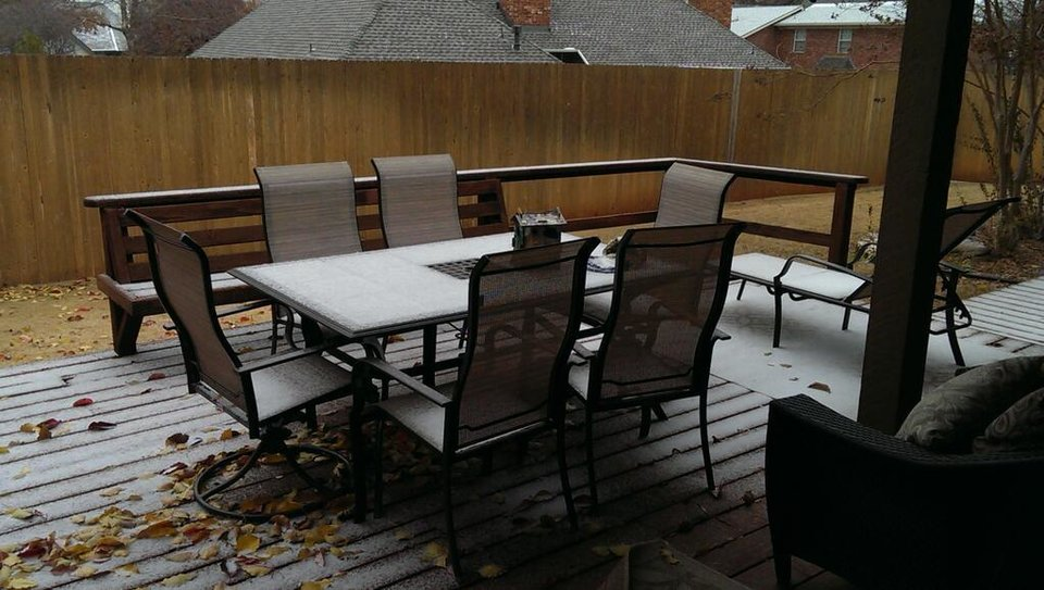 Photo - Sleet in Edmond. Photo by Kristin Davis