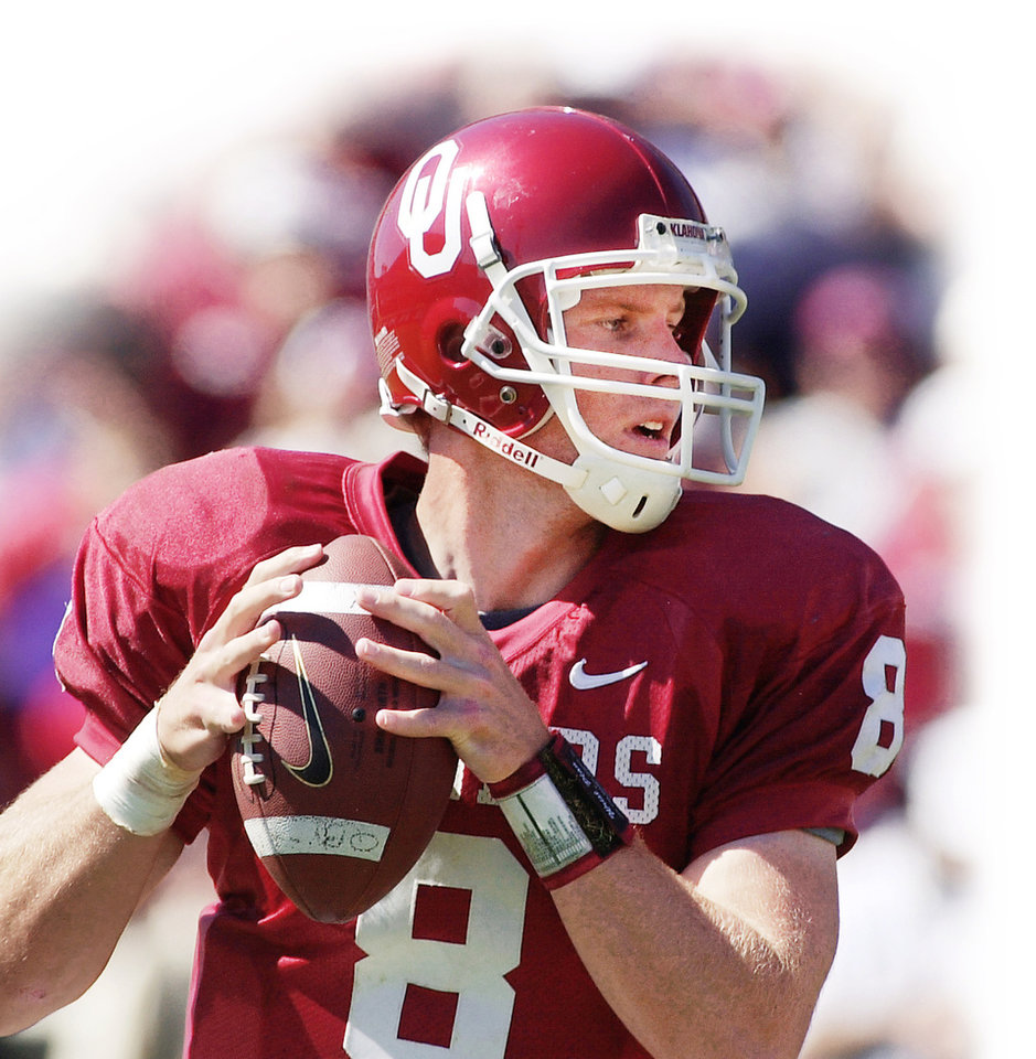 Photo - Nate Hybl Former OU QB Photo by Jim Beckel,  The Oklahoman Archive
