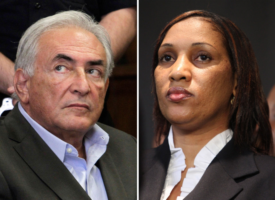 FILE - This combo made from file photos shows former International Monetary Fund chief leader Dominique Strauss-Kahn on May 19, 2011, left, and Nafissatou Diallo on July 28, 2011, in New York. A court date has been set for Dec. 10, 2012 to discuss a New York City hotel maid's sexual assault lawsuit against former International Monetary Fund leader Dominique Strauss-Kahn. Office of Court Administration spokesman David Bookstaver says the hearing will be held 10 a.m. Monday in the Bronx. Strauss-Kahn's lawyers said Friday that the two sides had discussed resolving the case. (AP Photo, File)