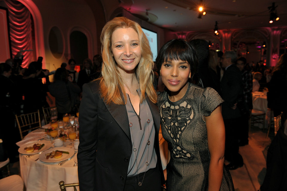 Photo - IMAGE DISTRIBUTED FOR THE HOLLYWOOD REPORTER - Actresses Lisa Kudrow, left, and Kerry Washington pose for a photo at The Hollywood Reporter's 21st Annual Women in Entertainment Power 100 breakfast presented by Lifetime on Wednesday, Dec. 5, 2012 in Beverly Hills, Calif.  (Photo by John Shearer/Invision for The Hollywood Reporter/AP Images)