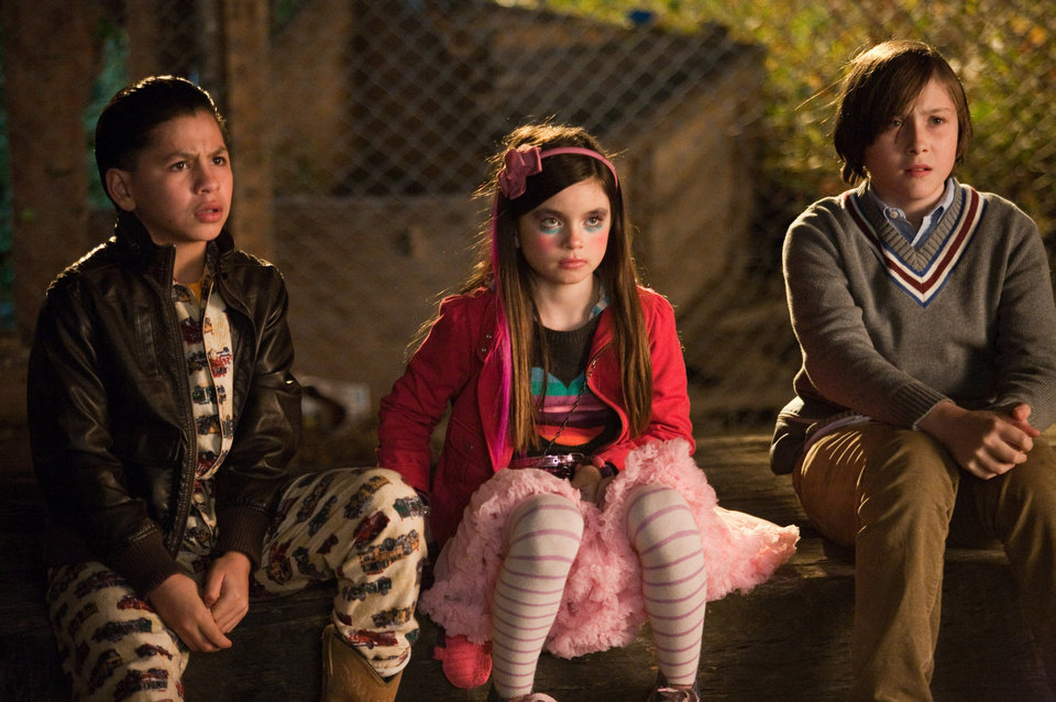 Photo - In this image released by 20th Century Fox, from left, Kevin Hernandez,  Landry Bender and Max Records are shown in a scene from