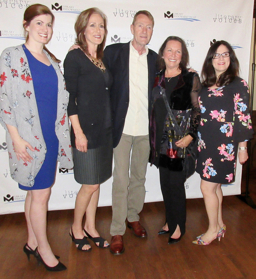 Photo - Ashleigh Gibson, Cathy Story, Cindy Friedemann, Lee Child, Jane Kelly. PHOTO PROVIDED