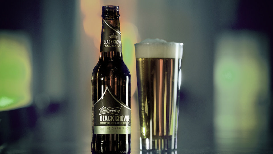 This undated screenshot provided by Budweiser shows the company's Super Bowl advertisement for Black Crown. (AP Photo/Budweiser)