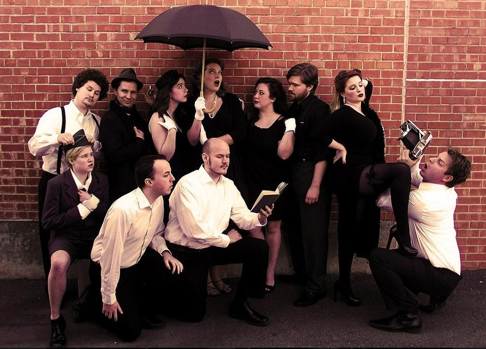 "Cast of Reduxion Theatre's ""Love's Labour's Lost"" including Jessa Schinske, Charlie Monnot, Ian Clinton, Catherine Pitt, Claire Dixon Powers, Sam Bearer, Mitchell Jonathan Reid, Susan Riley and Jeffrey Burleson. Photo provided"