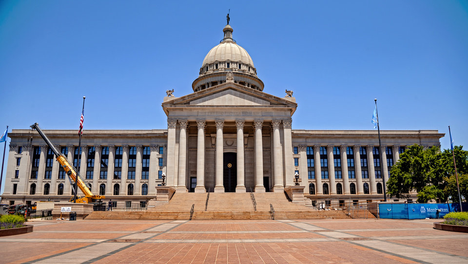 Photo - The Oklahoma state Capitol on Monday, May 18, 2020, in Oklahoma City, Okla..  [Chris Landsberger/The Oklahoman]