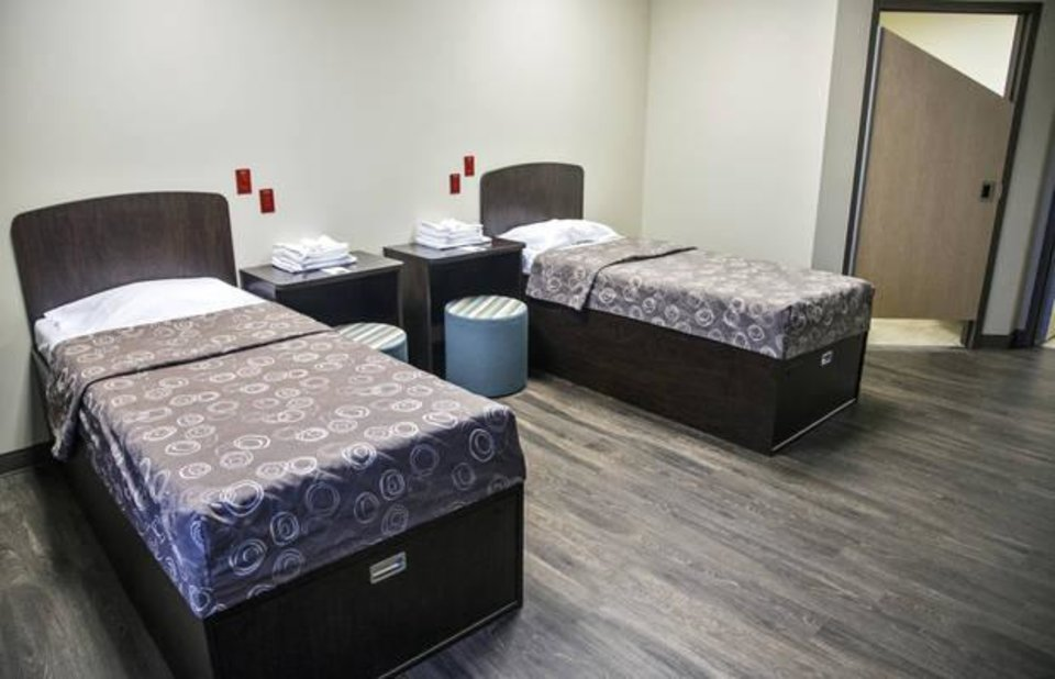 Photo -  Oakwood Springs' new behavioral health unit offers beds for military members and first responders in patient rooms. [Photo by Chris Landsberger, The Oklahoman]