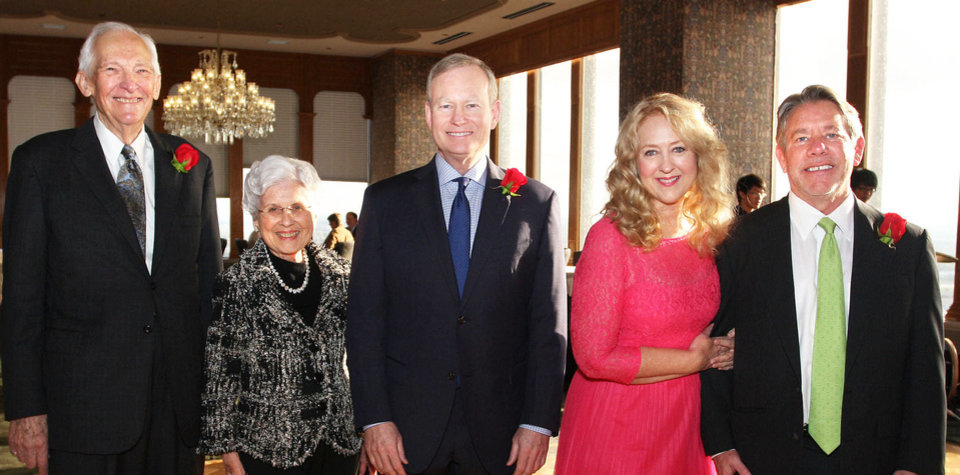 Photo - Douglas and Peggy Cummings, Mayor Mick Cornett, Jenny and Rick Dunning. PHOTO BY DAVID FAYTINGER, FOR THE OKLAHOMAN