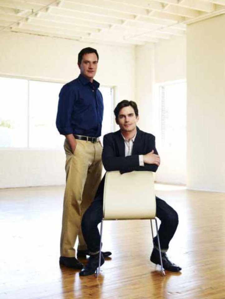 WHITE COLLAR -- Pictured: (l-r) Tim DeKay as Peter Burke, Matthew Bomer as Neal Caffrey -- USA Network Photo: Nigel Parry