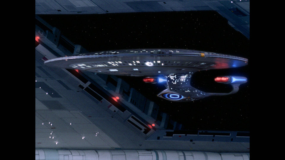 "Photo - The ship Enterprise is shown in ""Star Trek: The Next Generation."""