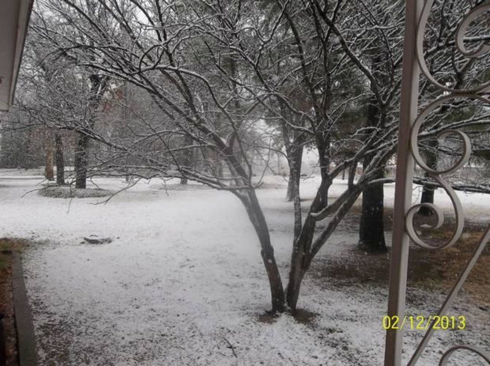 Photo - Snow day in Nicoma Park, Ok