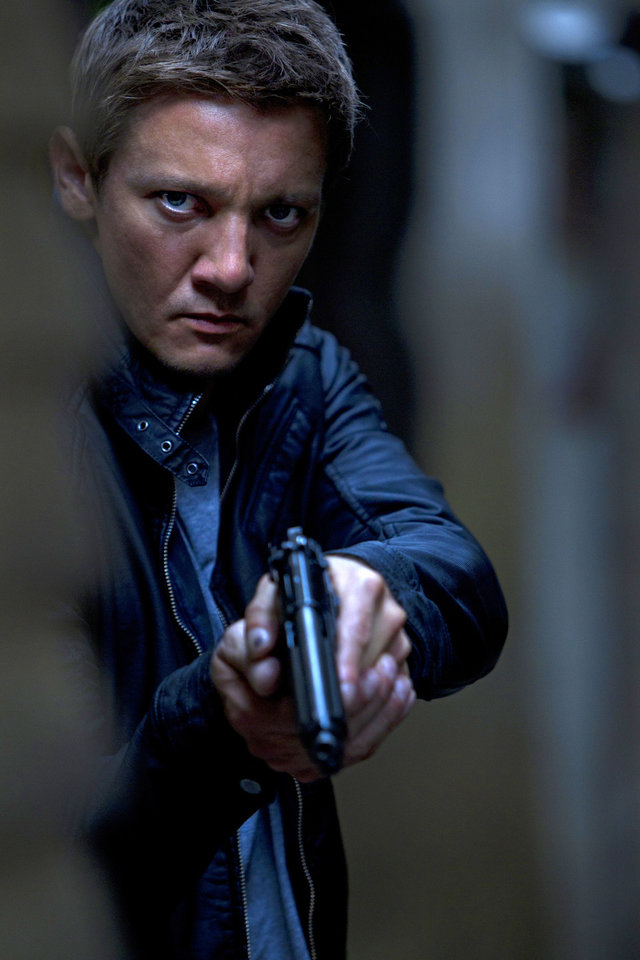 "Jeremy Renner portrays Aaron Cross in a scene from ""The Bourne Legacy."" UNIVERSAL PICTURES PHOTO <strong>Mary Cybulski</strong>"