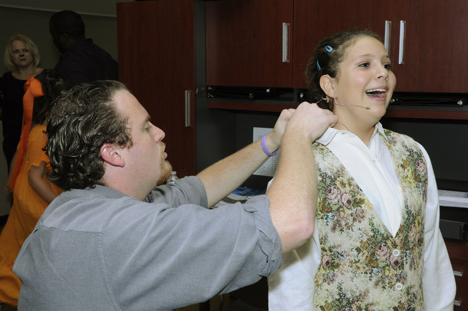 Photo - Getting wired for St. Luke's Poteet Theater's