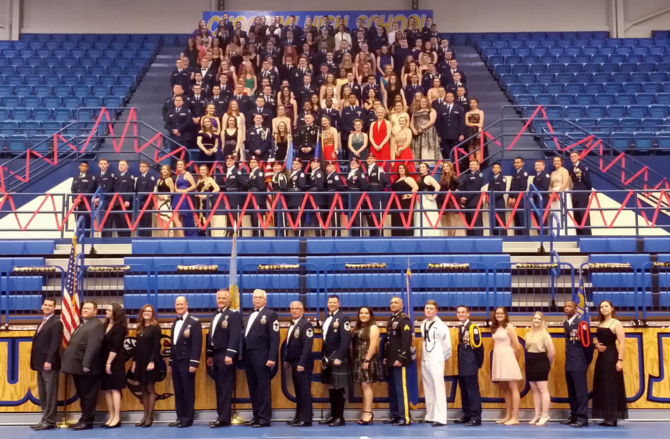 Photo - Group photo of the Military Ball. PHOTO PROVIDED