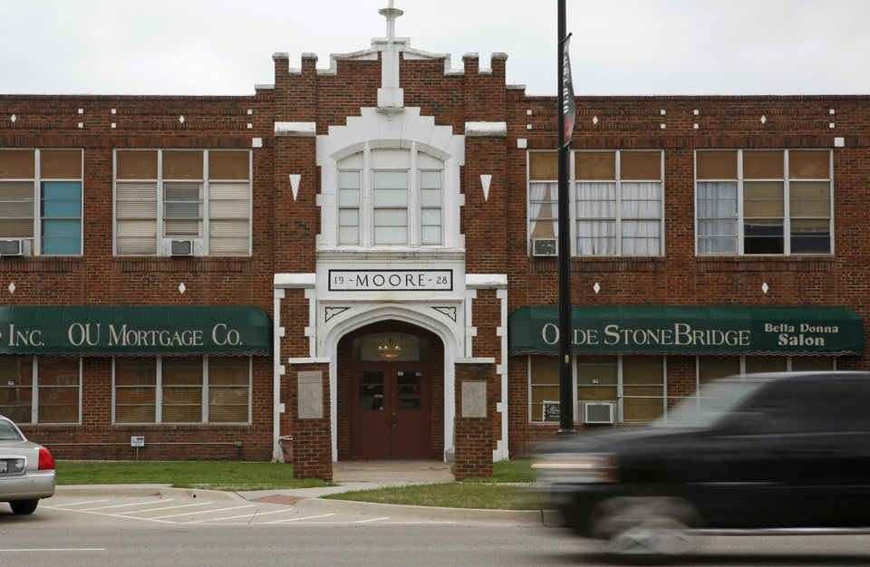 The old Moore school building is shown in Moore, Thursday, March 22, 2012. Photo by Bryan Terry, The Oklahoman
