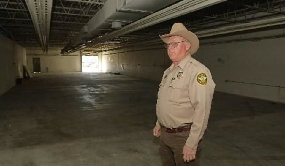 Seminole County Sheriff  Joe  Craig in the proposed new jail in Wewoka. Staff photo by David McDaniel