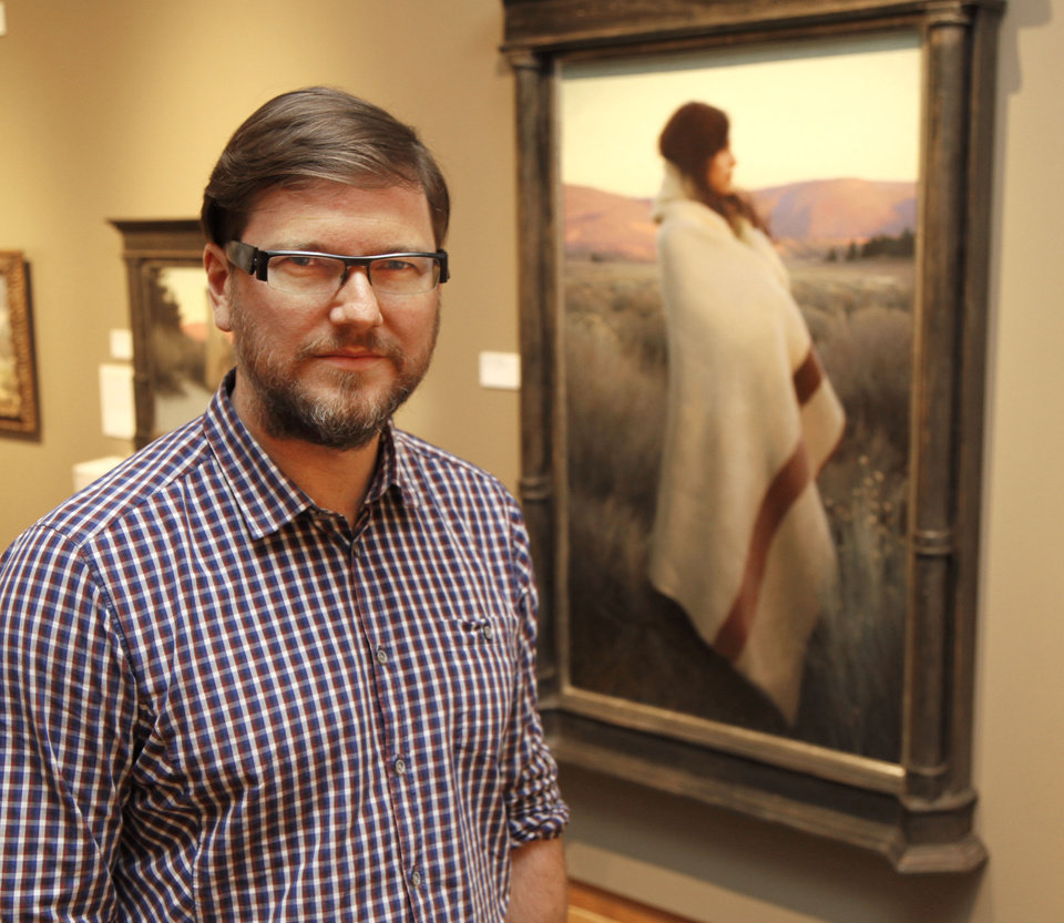 """Photo -  """"Silence and Sagebrush,"""" by artist Jeremy Lipking, was the Prix de West purchase award winner at the National Cowboy and Western Heritage Museum in Oklahoma City on June 14. Photo by Paul Hellstern, The Oklahoman   PAUL HELLSTERN -"""
