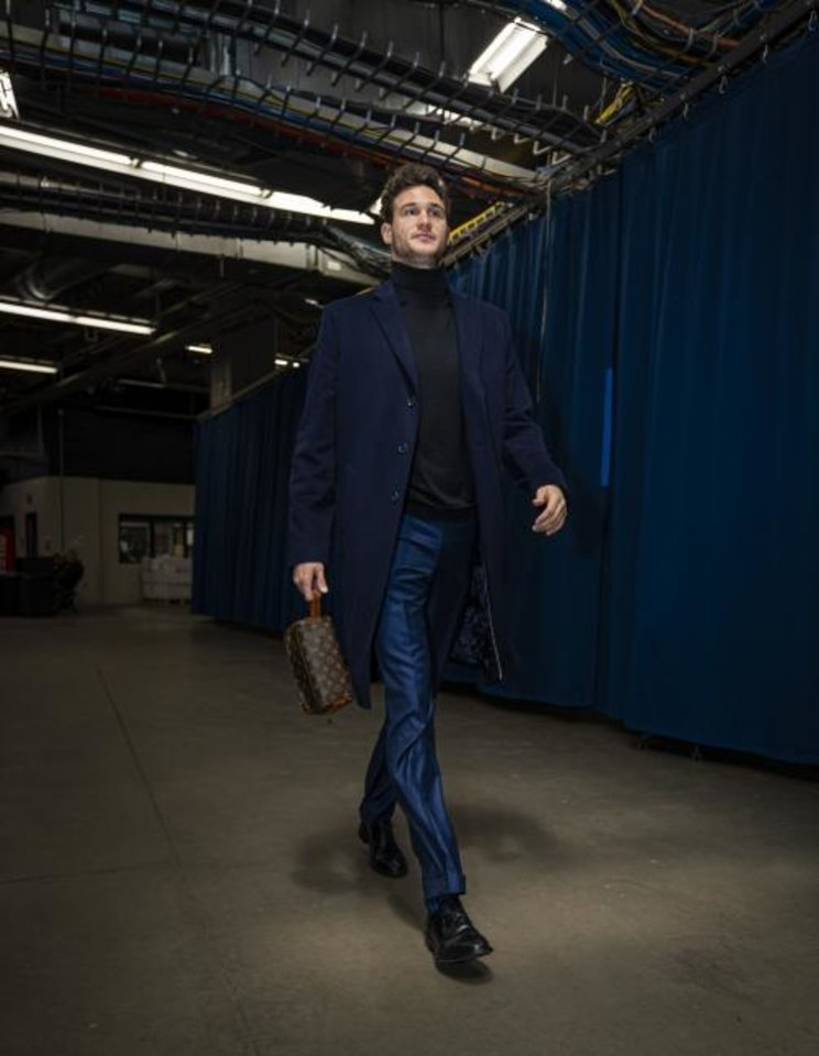 Photo -  Thunder forward Danilo Gallinari walks the tunnel in Chesapeake Energy Arena before facing the Lakers on Nov. 22. [Photo courtesy of Zach Beeker/OKC Thunder]