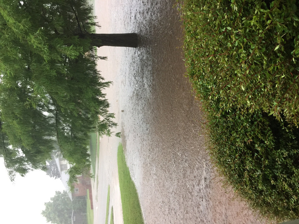Photo - Flooding on N Tulsa Ave. by Melissa Olivo #newsoknow #Weather