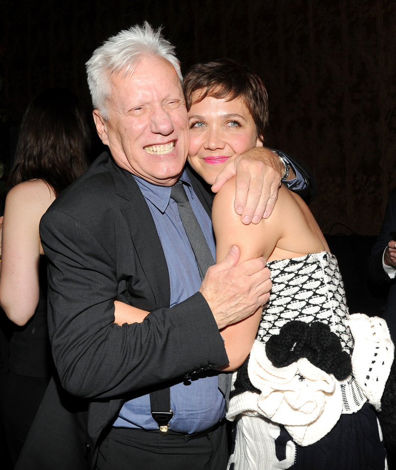 "Actors James Woods and Maggie Gyllenhaal attend the ""White House Down"" premiere party at The Frick Collection on Tuesday, June 25, 2013 in New York. (Photo by Evan Agostini/Invision/AP) ORG XMIT: NYEA208"