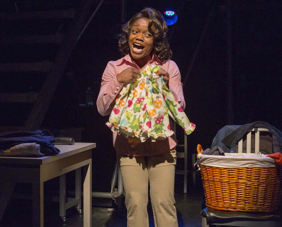 "This publicity photo released by Karen Greco PR shows Kenita Miller in a scene from the musical ""Working,"" based on Studs Terkel's book, at 59E59 Theaters in New York.  (AP Photo/Karen Greco PR, Richard Termine)"