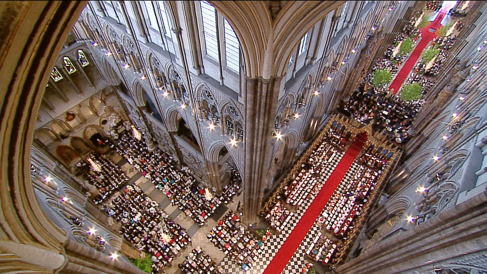 Photo - In this image taken from video, an interior view of Westminster Abbey during the Royal Wedding in London on Friday, April, 29, 2011. (AP Photo/APTN) EDITORIAL USE ONLY NO ARCHIVE PHOTO TO BE USED SOLELY TO ILLUSTRATE NEWS REPORTING OR COMMENTARY ON THE FACTS OR EVENTS DEPICTED IN THIS IMAGE ORG XMIT: RWVM183