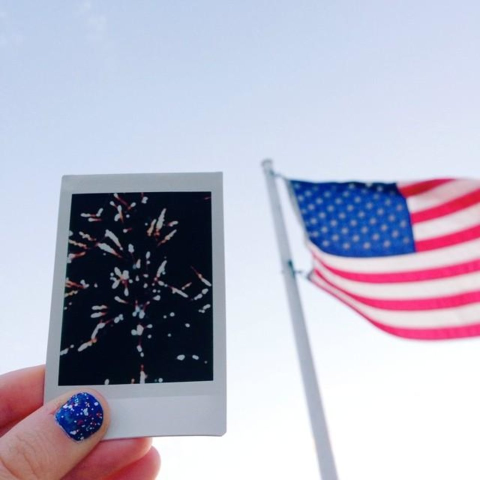 Photo - - Amber Kanady (@joyfulamber) - 27 This photo was taken on the fourth of july. i celebrated our nation's freedom with family, friends, and fireworks.  It says that this great state we call home is the land of the free because of the brave.