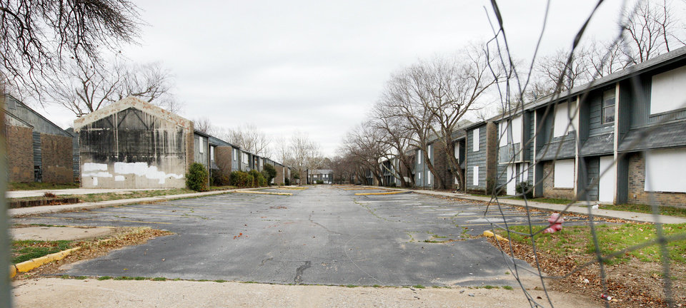 Dilapidated apartments in the 7400 block of NW 10 are a nuisance for the city of Oklahoma City. Photo by Paul B. Southerland, The Oklahoman <strong>PAUL B. SOUTHERLAND</strong>