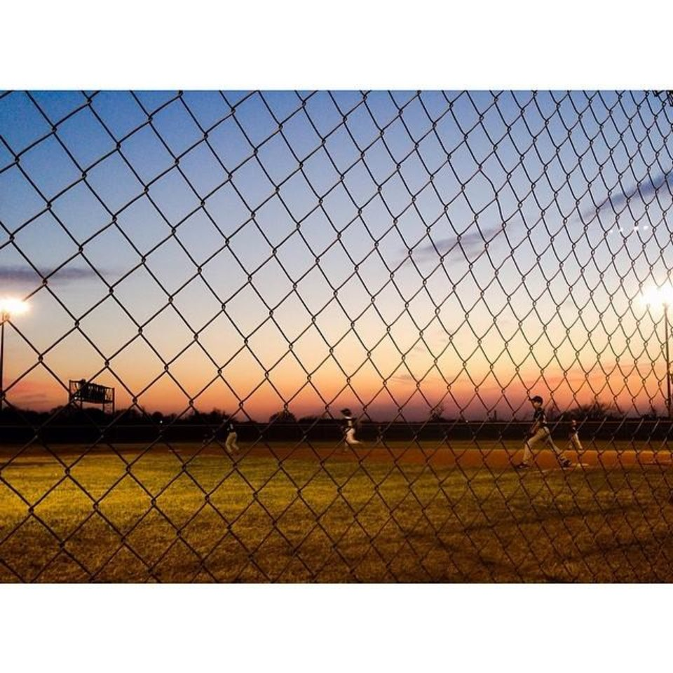 Baseball fields in Coweta, Oklahoma - Photo by Instagrammer @jessvivion