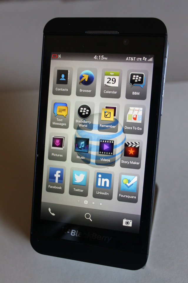 Photo - BlackBerry Z10.   - PROVIDED BY AT&T